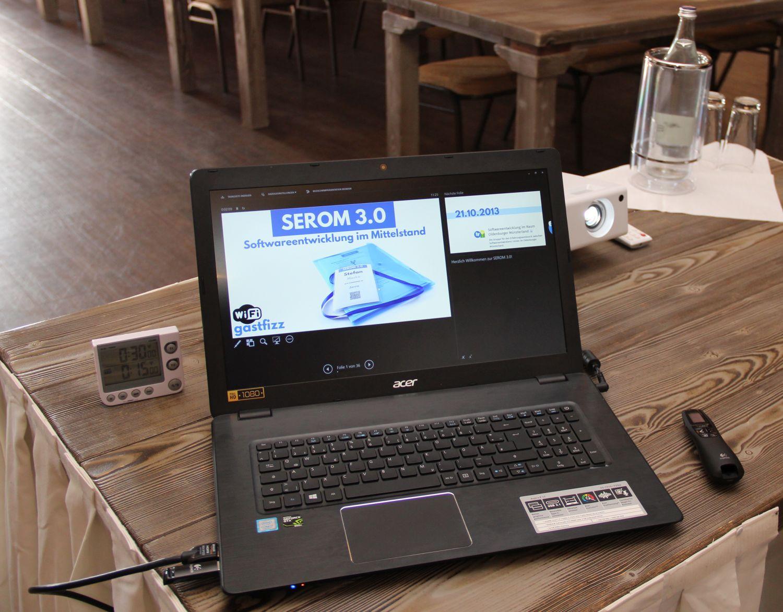 Der Blick der Referenten während der SEROM 3.0