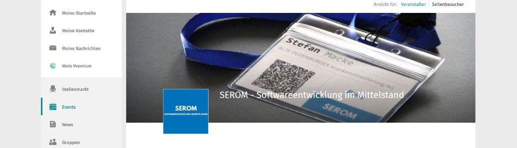 Die SEROM als Event bei Xing