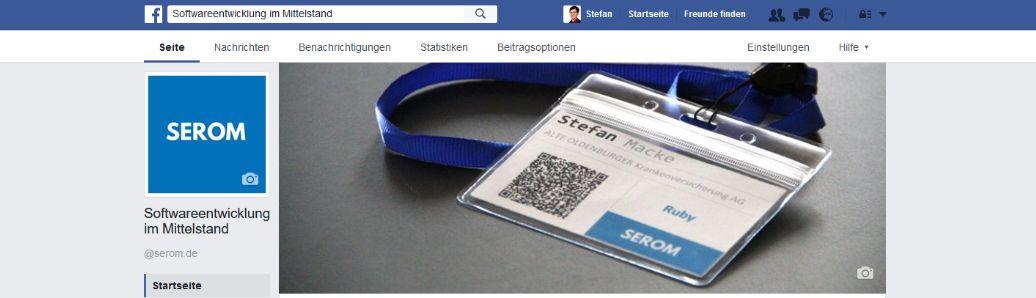 Die SEROM ist jetzt auch bei Facebook