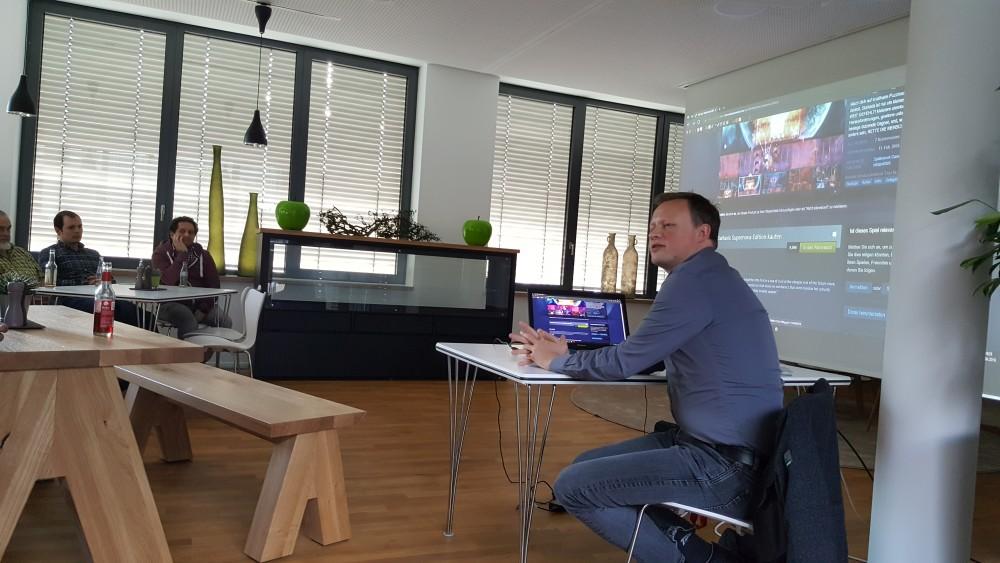 Michael Schäfer berichtet über die Spieleentwicklung